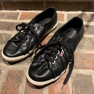 Superga faux leather sneakers